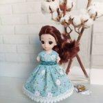 Платье для Баболи 16см и схожих по размеру кукол