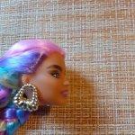 Голова барби Экстра с радужными волосами