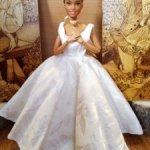 Шикарное свадебное платье для Барби