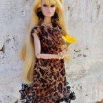 """Платье """"Леопардовая кошечка"""" для Poppy Parker"""