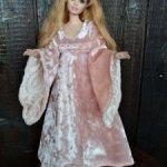 Эльфиское платье для Барби-Пышки