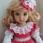 Платье для куклы Дианы Эффнер, Паола Рейна, бержуан