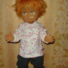 Кукла СССР рыжий голубоглазый мальчик