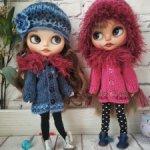 Кукла Блайз свитер кофта пальто и шапка