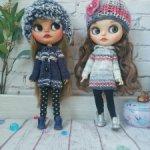 Одежда для куклы Блайз Blythe кофта и шапка