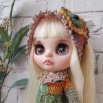 Кастом Блайз кукла Blythe с белыми светлыми волосами