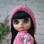 Кастом Блайз кукла Blythe с черными волосами