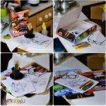 Раскраски и карандаши наборы с папками формат 1/6