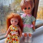Куклы гдр СССР маленькие, 25 и 19 см. лот