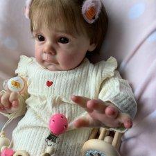 Срочная ПРОДАЖА. Кукла реборн из молда Мэгги. 62 см, вес 2500