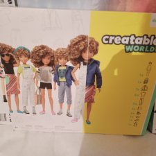 Creatable World набор кудрявый парик