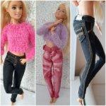 Джинсы для куклы Барби.