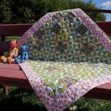 """Одеяло """"Вертушка"""". Для детей, для кукол большого размера, в интерьер детской комнаты"""
