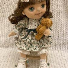 Текстильная куколка с гнущимися ручками, ножками