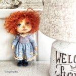 Текстильная кукла авторская коллекционная