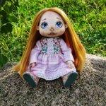 Кукла в платье и карнавальном костюме пьеро текстильная авторская