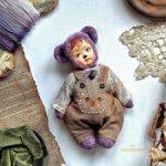 Тедди-долл мишка лавандовый талисман