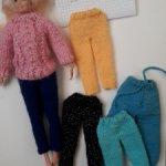 Лосины-штанишки для куклы барби.