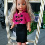 Кукла немецкая ГДР блондинка длинные волосы
