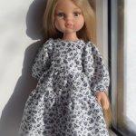 Платье из хлопка в мелкий цветок для куклы Паола Рейна и подобных