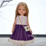 Платье для куклы Паола Рейна и подобных