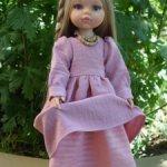 Платье оверсайз для куклы Паола Рейна и подобных объемом талии до 20 см