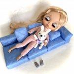 Диванчик для кукол ростом до 32 см