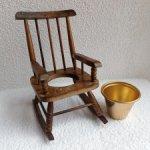 Старинный стульчик-качалка с горшком для куклы. Стул кресло.качалка