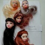 Головки лотом от разных кукол типа Барби