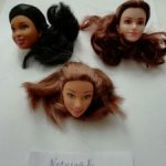 Головки кукол типа Барби