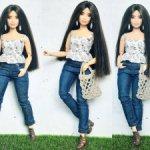 Хлопковый топ на пышку Barbie