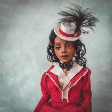 Шарнирная авторская кукла в костюме викторианской эпохи