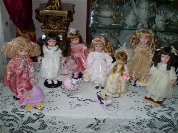 Мои куклы-дети, фарфоровые куколки