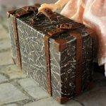 Кукольный чемодан в стиле ретро