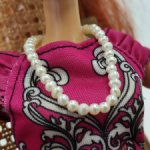 Ожерелье из натурального ( речного) жемчуга с магнитным замком