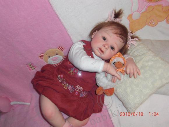 Маленькая девочка, зовут нас Инночка-белочка - кукла-реборн