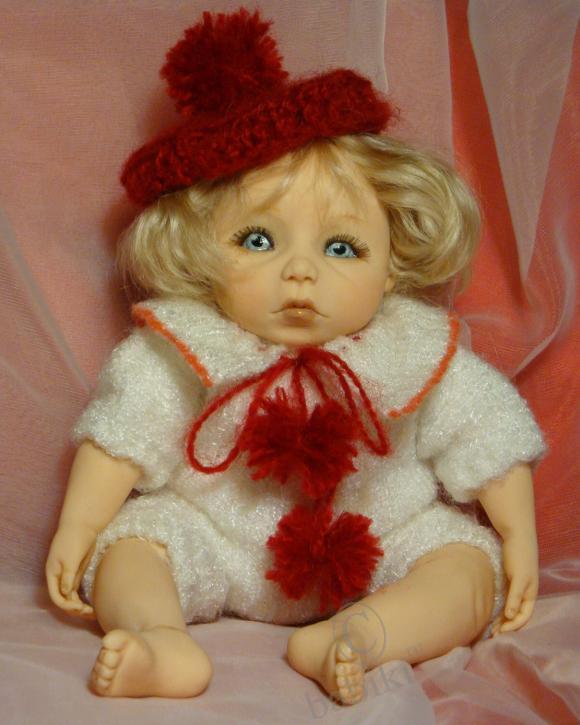 Полина - авторская кукла из Фимо, моя работа
