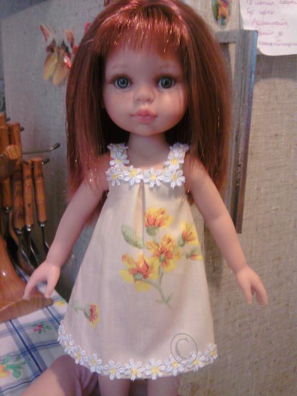 Дашуля в сарафанчике с новой прической, кукла от Паолы Рейна