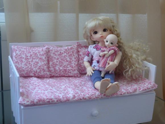 Диван кровать для кукол своими руками фото 861