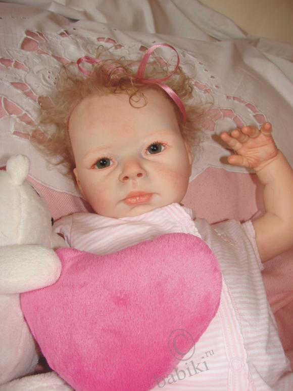 Малышка ркукла-реборн - Кудряшка Сью! Молд Джонатан от Adrie Stoete