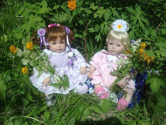 Прогулка в лес. Мои куклы Адорочки