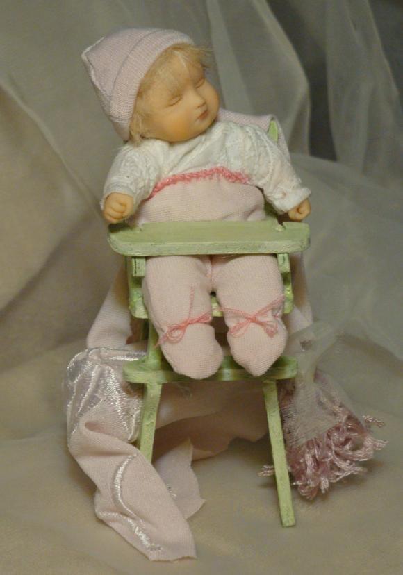 Уснула... мини куколка, моя работа
