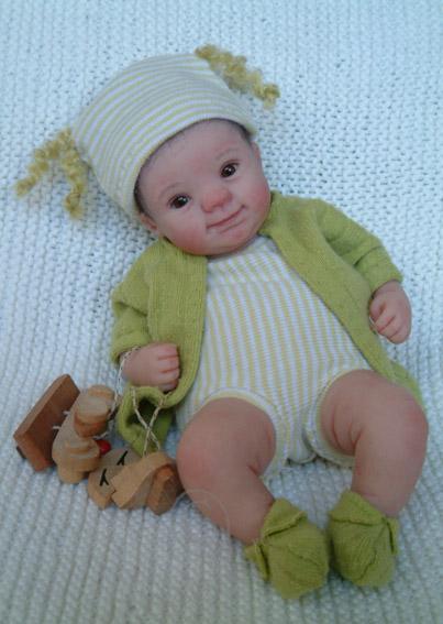 Малышки в ладошке... Авторские куклы Kim van de Wetering