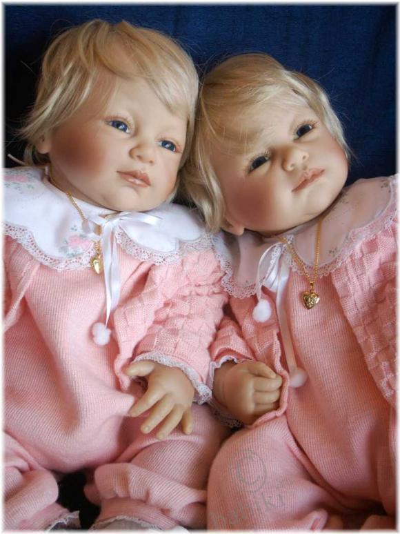 Коллекционная кукла «Mein Baby»  автор Brigitte Lemann от фирмы ЦАПФ