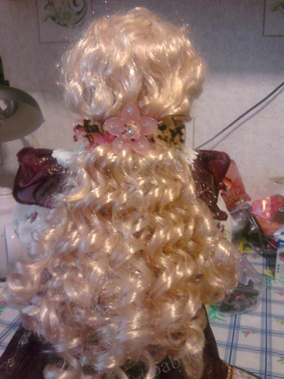 Моя Анюта с новой прической. Коллекционная фарфоровая кукла