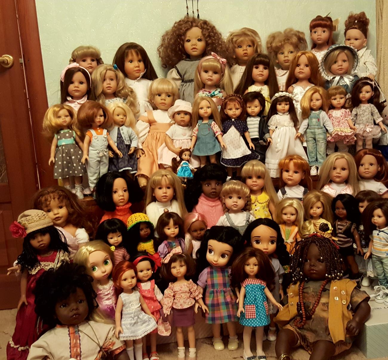 Картинки много разных кукол