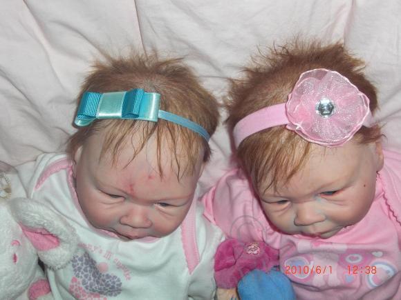Близняшки, а такие разные - реалистичные куколки реборн