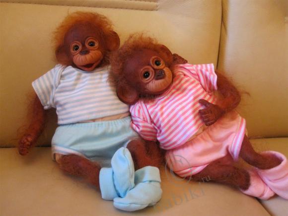 Немного позитива - обезьянки реборн