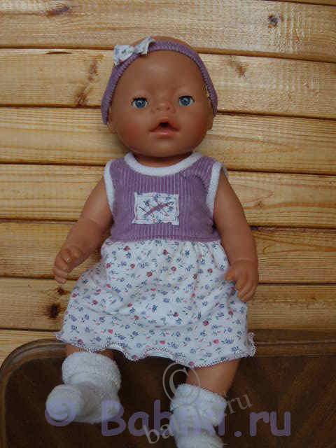 Платье для куклы беби бон выкройки