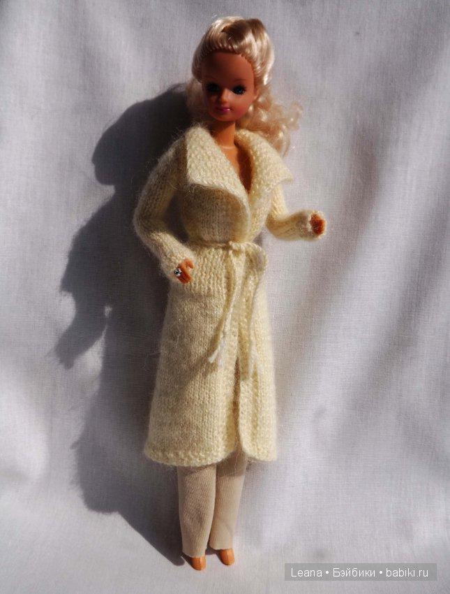 фото схема вязания пальто для барби спицами для малышей